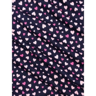 Single Jersey, Kinderstoff Herzchen dunkelblau Breite 155cm kaufen