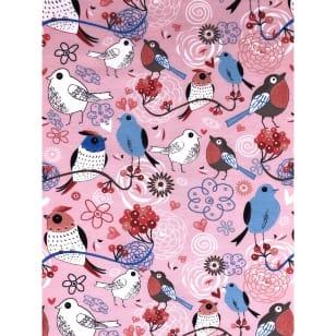 Jersey Stoff Kinderstoff Liebe Vögel 3 Farben kaufen