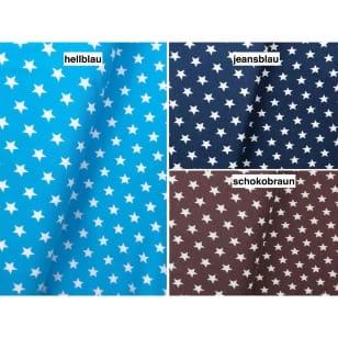 Jersey Stoff mit Sternen 3 Farben kaufen