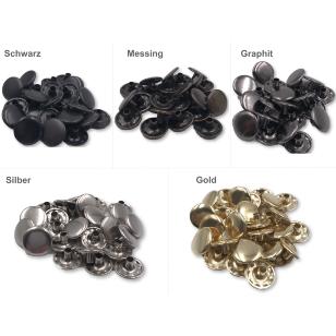 Druckknopf Metall Knopf Druckknöpfe Nietenknöpfe 15mm kaufen