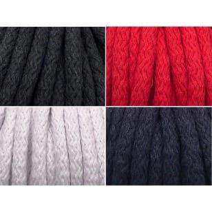Kordel Baumwolle 8mm rund Schnur, 4 Farben kaufen