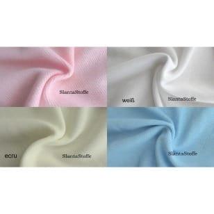 Kuscheliger Strickstoff uni, ecru, hellrosa, weiß, hellblau kaufen