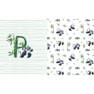 Panel Jersey Stoff Panda Kinderstoff 0,66 m x 1,50m kaufen