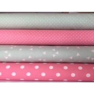 Stoffpaket, in mint-rosa, 4 Stoffstücke kaufen