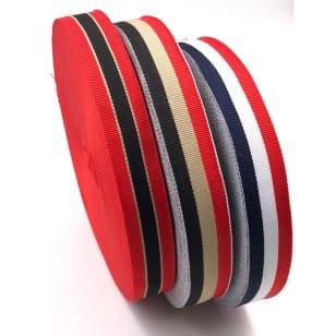 Ripsband Retro Dekoband Webband Hutband 23mm 3 Farben kaufen