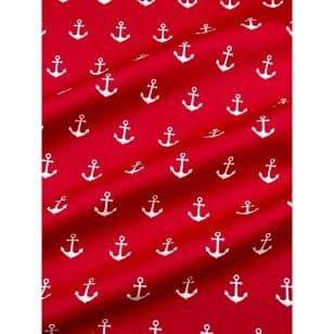 Baumwollstoff Anker, rot, Breite 145 cm kaufen