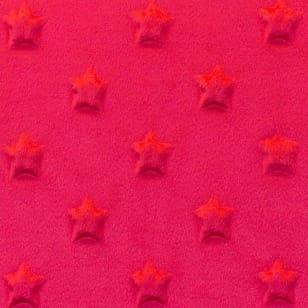 Minky Fleece Sterne Microfleece Stoff Breite 165 cm rot kaufen