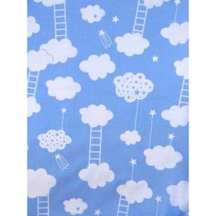 Baumwollstoff Kinderstoff Wolke hellblau Breite 160cm ab 50 cm kaufen