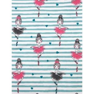 Jersey Stoff Kinderstoff Ballerina min rosa Breite 145cm ab 50cm kaufen