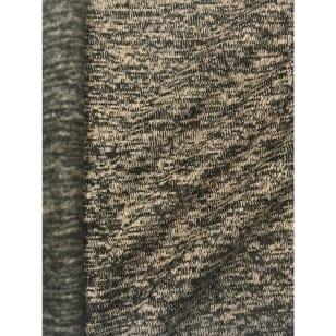 Strickstoff Strickfleece Stoff Fleece meliert sand kaufen