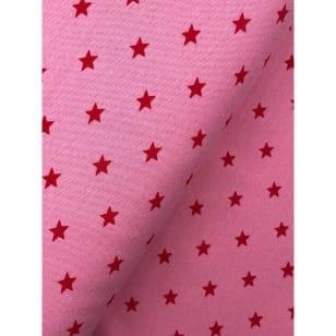 Bündchenstoff Stoff Schlauch Meterware Sterne rosa kaufen