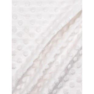 Minky Fleece Noppen Microfleece Breite 150 cm weiss kaufen