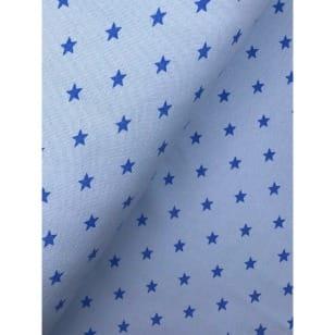 Bündchenstoff Stoff Schlauch Meterware Sterne hellblau kaufen