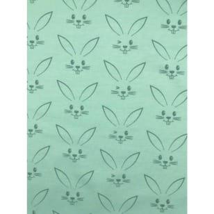 Jersey Stoff Kinderstoff Kaninchen Mint Breite 150 cm ab 50 cm kaufen