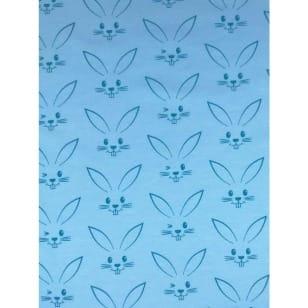 Jersey Stoff Kinderstoff Kaninchen hellblau Breite 150 cm ab 50 cm kaufen