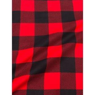 Flanell Stoff Baumwolle bedrückt Karomuster kariert rot Breite 160 cm kaufen