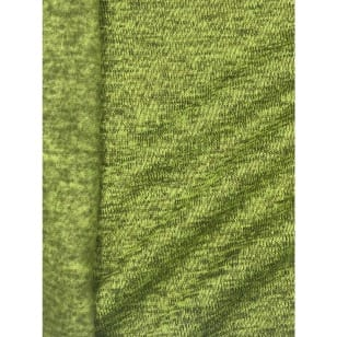Strickstoff Strickfleece Stoff Fleece meliert lime kaufen