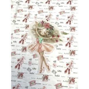 Panel Jersey Stoff Einhorn Kinderstoff Ballerina kaufen
