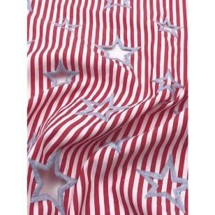 Baumwollstoff Stoff Dekostoff Sterne gestickt Breite 145 cm kaufen