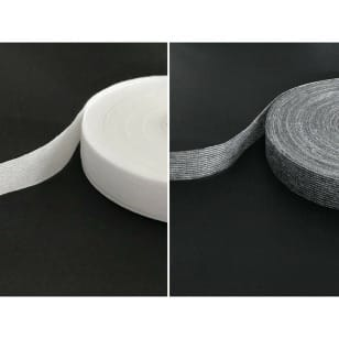 100 m Nahtband Kantenband Formband grau weiß 15 mm kaufen