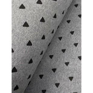 Bündchenstoff Schlauch Meterware Muster Dreiecken ab 50cm kaufen