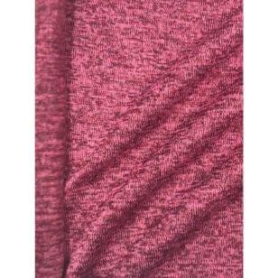 Strickstoff Strickfleece Stoff Fleece meliert pink kaufen