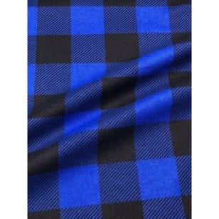 Flanell Stoff Baumwolle bedrückt Karomuster kariert blau Breite 160 cm kaufen