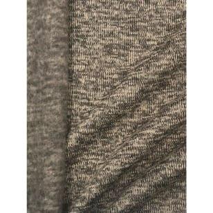 Strickstoff Strickfleece Stoff Fleece meliert helltaupe kaufen