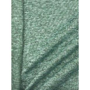 Strickstoff Strickfleece Stoff Fleece meliert altmint kaufen
