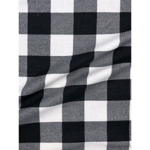 Flanell Stoff Baumwolle bedrückt Karomuster kariert schwarz Breite 160 cm kaufen