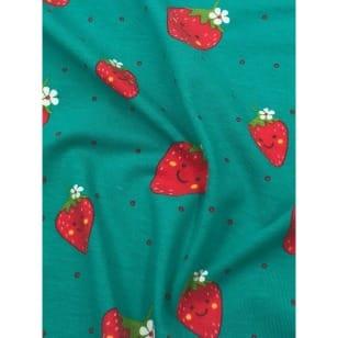Jersey Stoff Kinderstoff Erdbeeren Breite 150cm ab 50cm kaufen