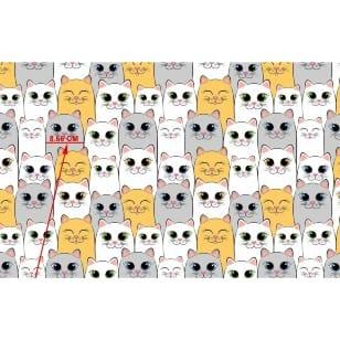 Baumwollstoff Kinderstoff Katzen Breite 160cm ab 50 cm kaufen