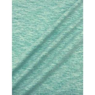 Jersey Baumwolle-Leinen uni meliert mint kaufen
