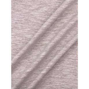 Jersey Baumwolle-Leinen uni meliert sand kaufen