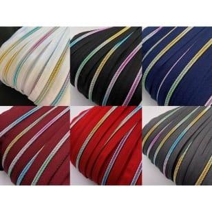 Reißverschluss endlos Spirale Regenbogen 5mm Meterware mit Zipper (5m + 10 Zipper) kaufen
