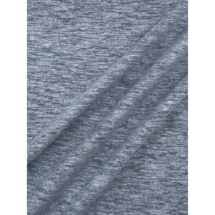 Jersey Baumwolle-Leinen uni meliert dunkeljeans kaufen
