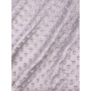 Minky Fleece Noppen Stoff Microfleece Breite 150 cm hellgrau kaufen