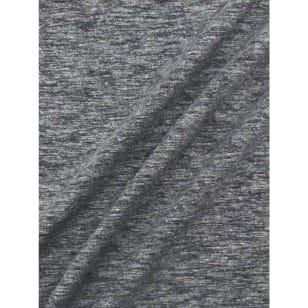 Jersey Baumwolle-Leinen uni meliert dunkelgrau kaufen