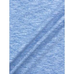 Jersey Baumwolle-Leinen uni meliert altblau kaufen