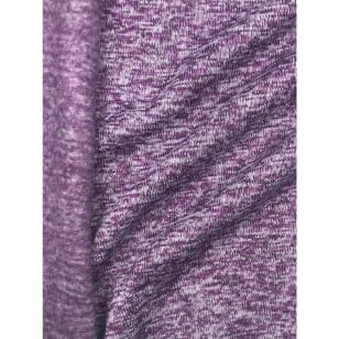 Strickstoff Strickfleece Stoff Fleece meliert dunkellila kaufen