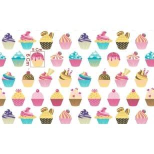 Baumwollstoff Kinderstoff Dekostoff Cupcake Muffin Breite 160cm ab 50cm kaufen