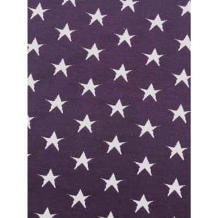Strickstoff Stoff lila Sterne nicht gerippt ab 50 cm kaufen