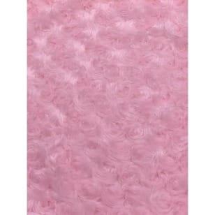 Pelz Stoff Rosa Fleece Fellimitat Breite 155 cm ab 50 cm kaufen