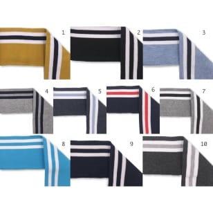Bündchen Boord Cuff Streifen Öko TEX 10 Farben kaufen