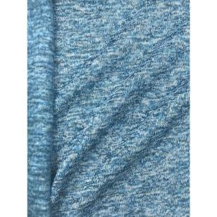Strickstoff Strickfleece Stoff Fleece meliert hellblau kaufen