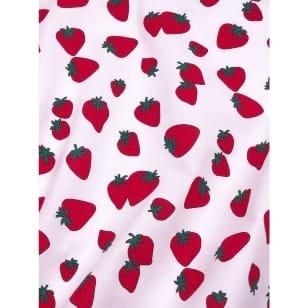 Baumwollstoff Kinderstoff Erdbeere Breite 160cm ab 50cm kaufen