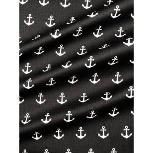 Baumwollstoff Anker, schwarz, Breite 145 cm kaufen