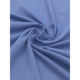 Viskose Jersey Stoff uni jeans Meterware Breite 160 cm kaufen