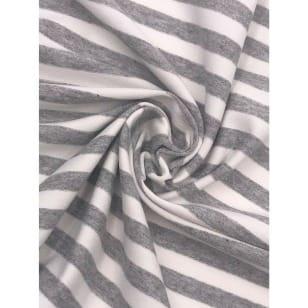 Viskose Jersey Streifen Stoff 1cmx1cm grau meliert Breite 160cm kaufen