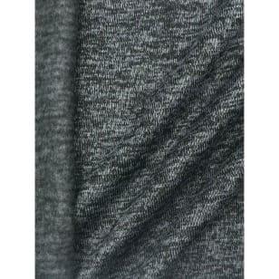 Strickstoff Strickfleece Stoff Fleece meliert dunkelgrau kaufen